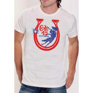 Colt 45 Malt Liquor Retro American Apparel T Shirt