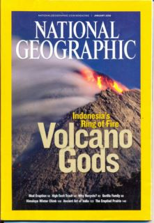 National Geographic Magazine January 2008 Volcano Gods