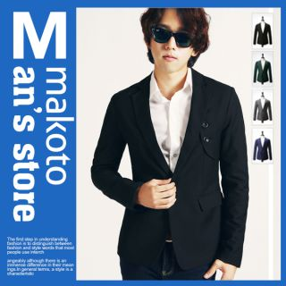 MAKOTO Mens Casual Slim Fit Blazer Jacket C016J
