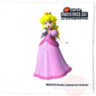 Peach Microfiber Cloth New Super Mario Bros Wii Screen Cleaner Wiper