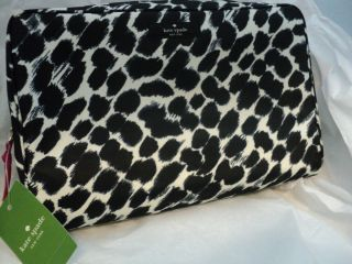 New Kate Spade Cosmetic Case Large Henrietta Lindenwood Leopard Case