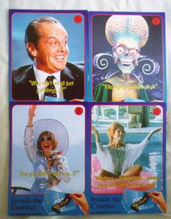 Set of 10 Mars Attacks 1996 Vintage Trading Cards from The UK Barclays