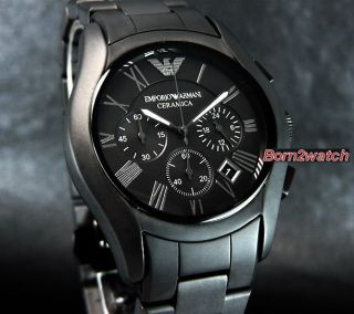 Emporio Armani Men Chronograph Matte Black Ceramic 42mm AR1457