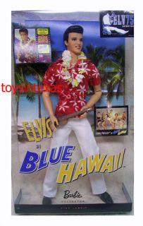 Mattel Barbie Elvis Presley Collection Classic Edition Blue Hawaii New