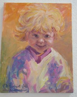Jim Mayne Freeheart Original Acrylic Painting Girl