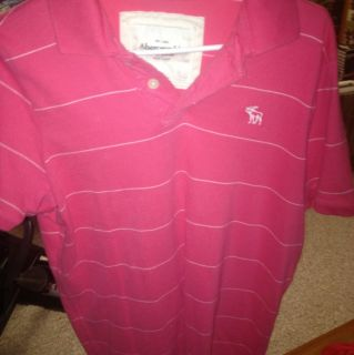 Abercrombie Fitch Mens Pink Polo Shirt