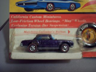 HOT WHEELS REDLINE MERCEDES BENZ 280SL PURPLE/ BLACK ROOF 1969 SEALED