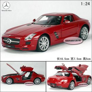 New Mercedes Benz SLS AMG 1 24 Alloy Diecast Model Car Toy with Box
