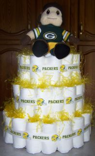 Green Bay Packers Inspired Baby Diaper Cake Baby Shower Gift