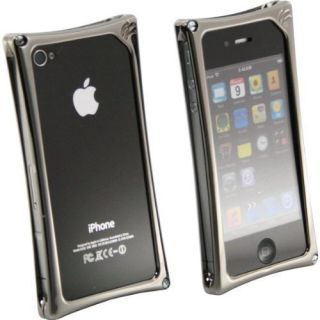 Wicked Metal Jacket WMJ2140 Black Chrome Alloy Case for iPhone 4 4G 4S