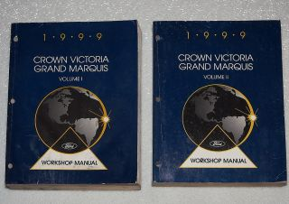 1999 Ford Crown Victoria Mercury Grand Marquis Service Manual Police
