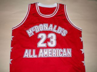 Michael Jordan McDonald All American Jersey McDonalds Red New Any