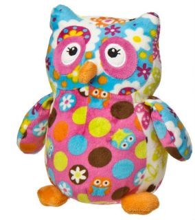 Owl Hoots Print Pizzazz Plush Stuffed Animal by Mary Meyer New