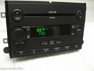 NEW 06 07 FORD Fusion MERCURY Milan Radio Stereo 6 Disc Changer  CD