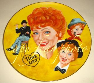 Love Lucy Lucille Ball Tribute Plate by Mike Hagel