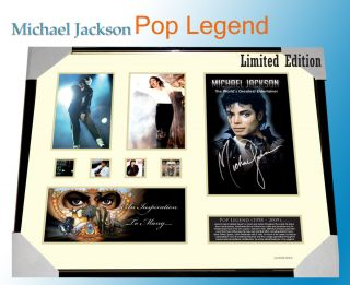 Michael Jackson Memorabilia Signed Framed Limited 499