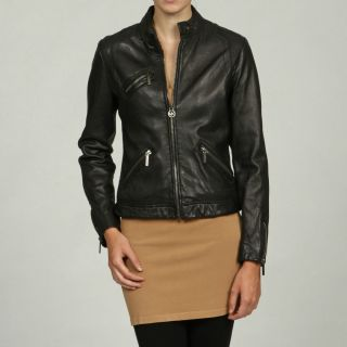 Michael Michael Kors Women`s Black Leather Jacket XL