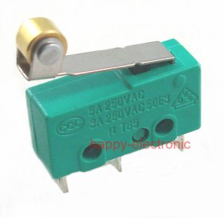 10pcs Micro Switch KW4 Limit Switch 3pin N O N C with Roller Lever