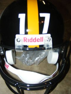 Mike Wallace Autograph Custom Full Size Helmet Steelers