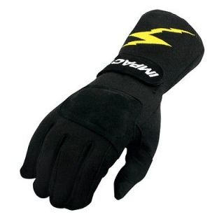 New Impact Racing Black G 1 Open Wheel Driving Gloves Size XL, Fire