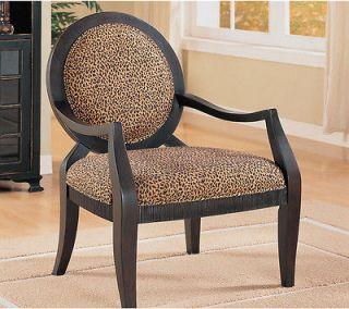 Accent Chair with Leopard Print