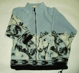horse fleece jackets in Clothing,