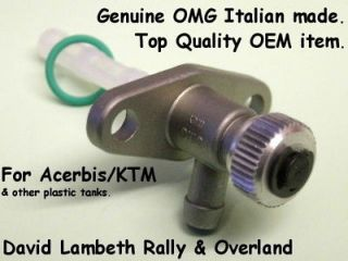 New OMG Screw Tap for Acerbis KTM Fuel Petrol Gas Tank