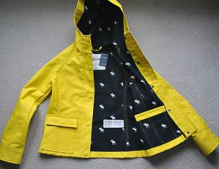 KIDS Girls RAIN COAT Addison NWT Yellow Jacket Size XL A&F