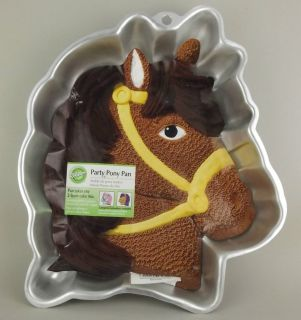 Wilton Party Pony Aluminum Cake Pan Mold #2105 1011 w/ Insert 12.5