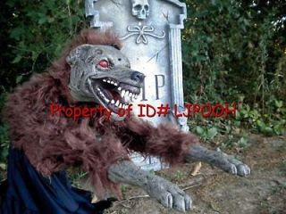 JUMPING WEREWOLF ANIMATED HALLOWEEN PROP DECORATION   LEAPING ATTACK