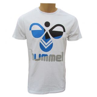 HUMMEL WOOD MENS WHITE COTTON LOGO T SHIRT UK S XXL RRP £20