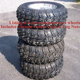 14 Aluminum RIMS WHEELS & ATV TIRES fits some Can Am Bombardier with
