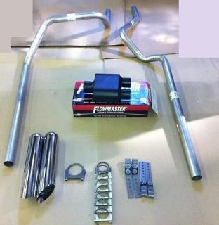 1500 GMC Siarra 05 12 Dual exhaust W/ Super 10 Flowmaster W Tips