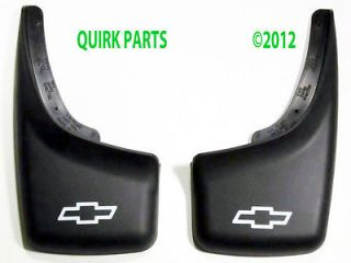 2000 2006 Chevy Tahoe Splash Rear Molded Splash Guards with Bowtie