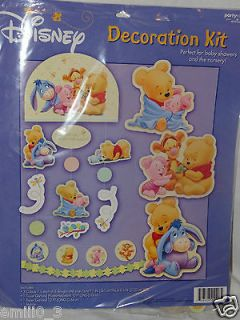 NEW WINNIE THE POOH BABY SHOWER DECORATION KIT PARTY SUPPLIES