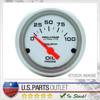 Auto Meter 4327 Ultra Lite Electric Oil Pressure Gauge 2 1/16 in. 0