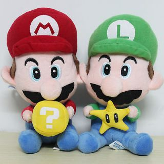 super mario plush mario and luigi