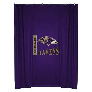 NFL BALTIMORE RAVENS Decorative SHOWER CURTAIN   Football Bathroom