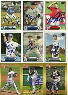 2012 Midwest League Top Prospect AARON SANCHEZ Signed Card BLUE JAYS