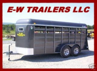 NEW 2012 DELTA STOCK AND CATTLE TRAILER 16 BUMBER PULL
