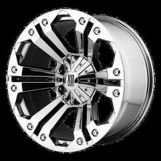 18 XD778 MONSTER CHROME RIMS & TIRES NITTO TERRA GRAPPLER 285X65X18