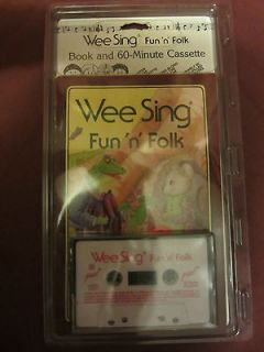 WEE SING FUN N FOLK BOOK WITH CASSETTE NEW IN PACKAGE