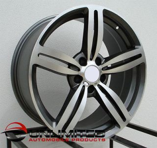 M6 Style Staggered GUNMETAL Wheels Rims Fit BMW E38 7 SERIES 1995 2001