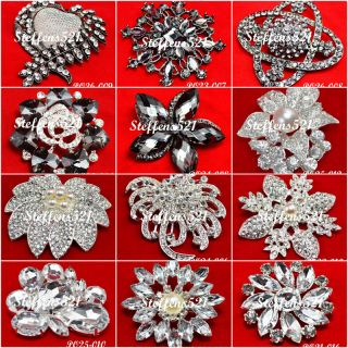 styles crystal rhinestone flower brooch pins Jewelry Bridal/Wedding