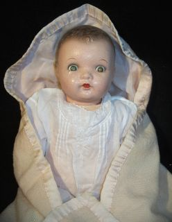 Ideal Composition, Cloth & Rubber 20 Baby Doll with Flirty Sleep Eyes