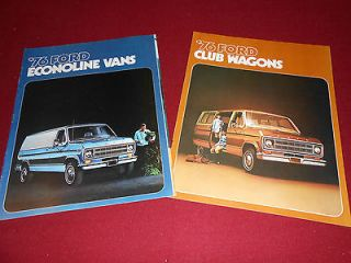 1976 FORD ECONOLINE VAN BROCHURE + FORD CLUB WAGON SALES CATALOG, 2