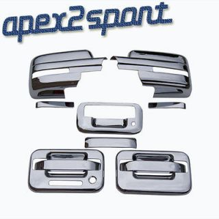 09 12 Ford F150 Chrome Door Handle Tailgate Mirror Covers Caps Set W