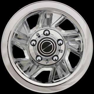15 92 96 FORD F150 BRONCO CHROME Wheel Skins Hub Caps Rim Covers