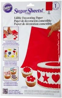 Wilton Red Sugar Sheet Edible Cake Decorating Paper