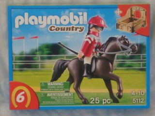 2012 BRAND NEW PLAYMOBIL COUNTRY Arabian Horse with Jockey and Stable